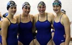 Girls Swim Team Dominate Relay Records at Invite