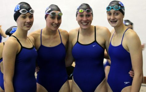 Girls Swim Team Dominate Relay Records at Invite