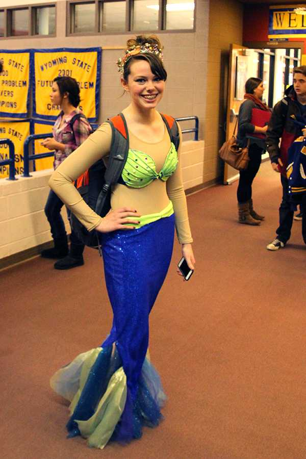 Hailey Longhurst as a mermaid.