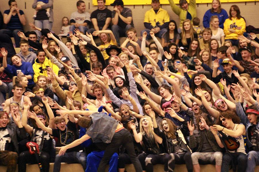 The SHS student section participates was at its biggest and finest for the rivalry game against Gillette.