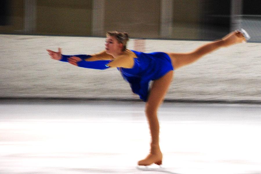 Katelyn Kayser performs at the Sheridan ice rink.
