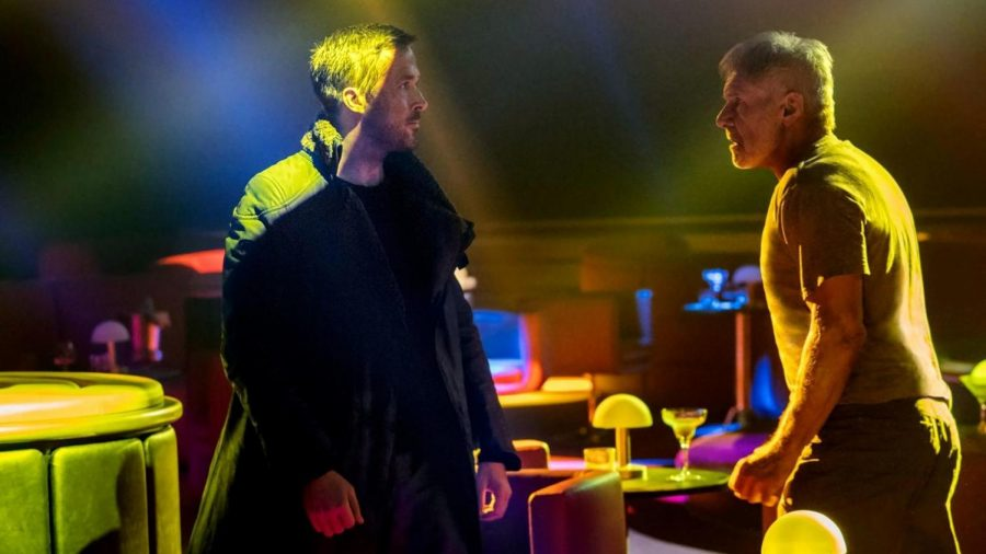 Ryan Gosling (left) and Harrison Ford (right) face off to fight and communicate. (Photo courtesy Scott Free Productions)