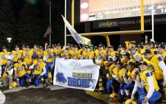 Broncs football team executes a three peat