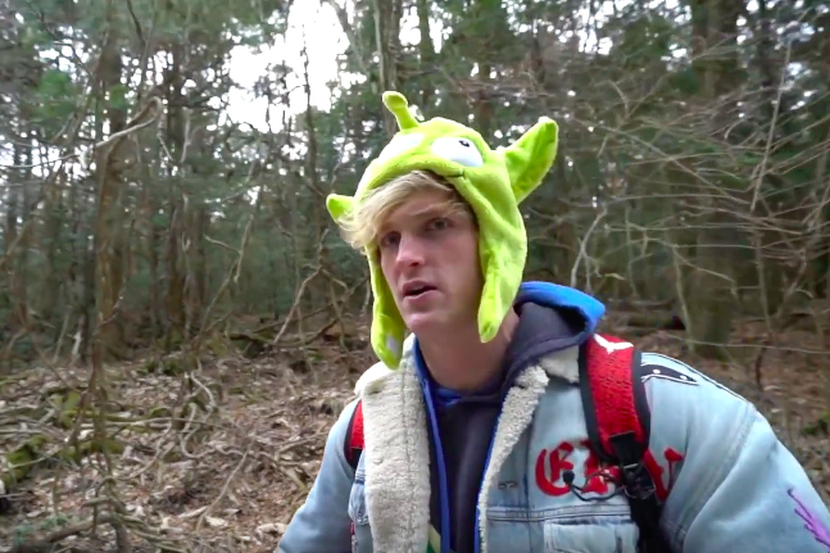 YouTuber Logan Paul stands near the body of a victim in Suicide Forest in Fujikawaguchiko, Japan during his blog. (Photo courtesy YouTube)