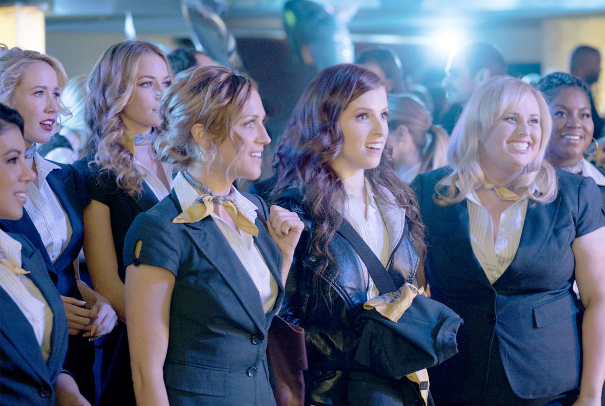 The Bellas gather around for a long awaited reunion. (Photo courtesy Universal Pictures)