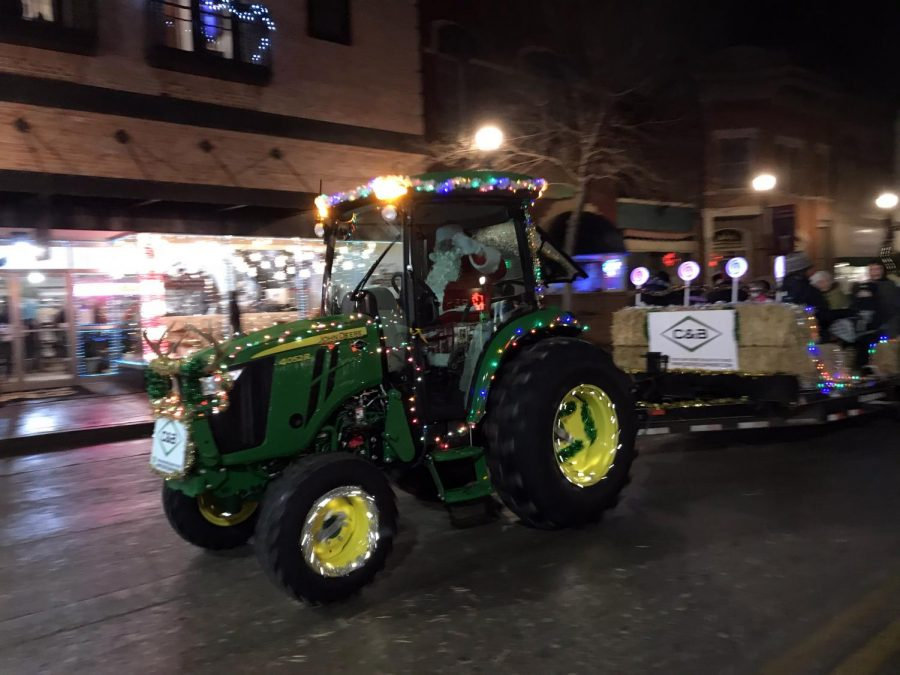 Tractor hay bail rides drove through Main Street, spreading the Christmas spirit and creating fun opportunities for the whole family.
